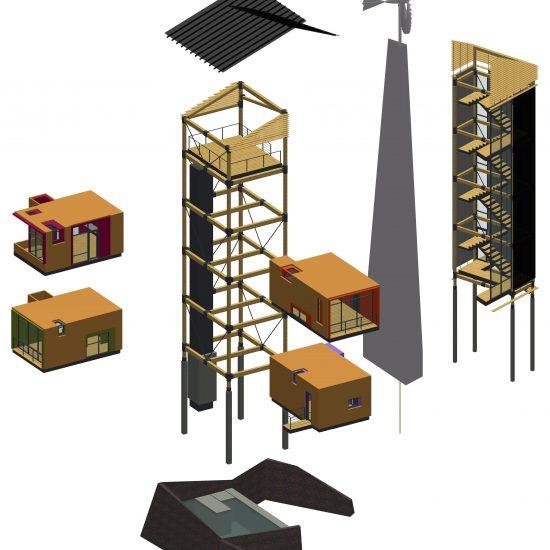 conceptual house design - stacked house design - modern home design texas - butler architectural group